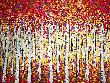 Golden Leaves by Shirley Smith