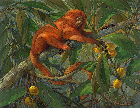 Golden Lion Tamarin by ACE Coinage painting by Michael Rothman