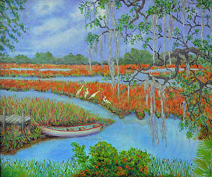 Golden Marsh 2 by Dwain Ray