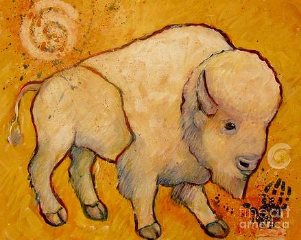Golden Peace White Buffalo by Carol Suzanne Niebuhr