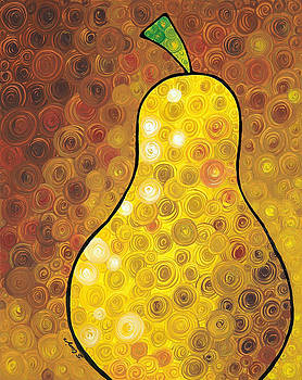 Golden Pear by Sharon Cummings