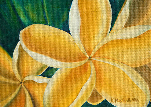 Golden Plumerias by Kristine Mueller Griffith