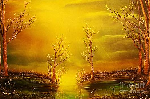 Golden Rays-ORIGINAL SOLD-Buy Giclee Print Nr 35 of Limited Edition of 40 prints  by Eddie Michael Beck