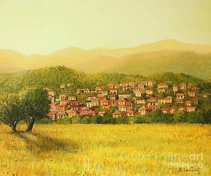 Golden Rural Scene by Kiril Stanchev