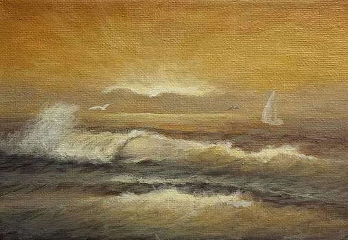 Golden Sail by Natascha De la Court