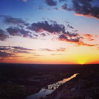 Golden Skies Over Austin.  photo by Things To Do In Austin Texas