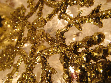 Golden Snowflake by Kelly Smith