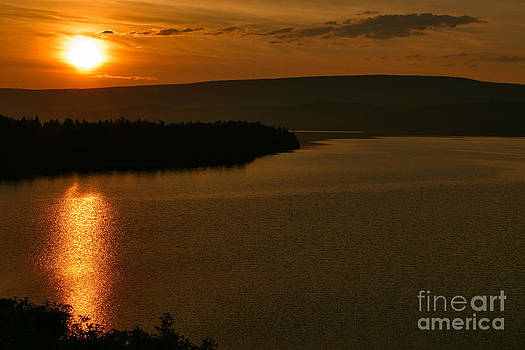 Charles Kozierok - Golden Sunrise at Saint Mary Lakeshore