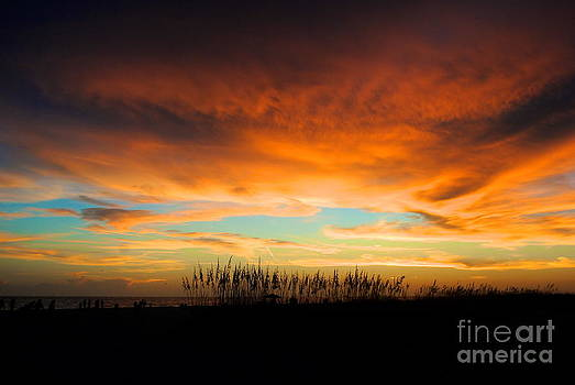 Golden Sunset at the Sandbar by Margie Amberge