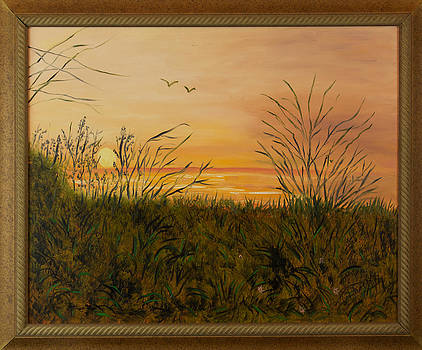 Golden Sunset by Margaret Pappas
