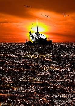Golden Trawler - Outer Banks by Dan Carmichael