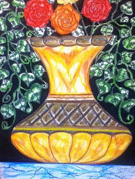 Golden Vase by LeWanda Laboy