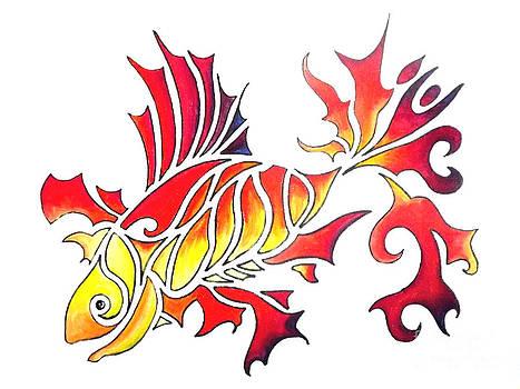 Goldfish 1 by Diane Ellingham