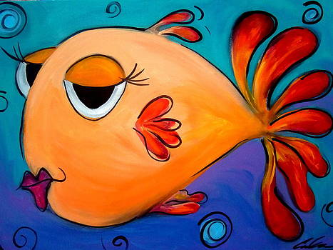 GoldFish Lips by Carla MacDiarmid
