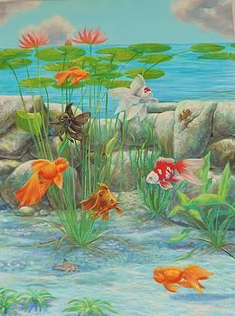 Goldfish Water Garden by Bonnie Golden