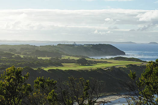 Golf course on beach by View Factor Images