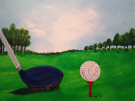 Golf Tee Time  by Edwina Sage Washington