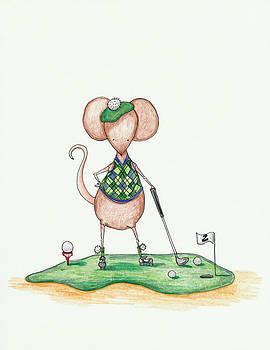 Golfer Mouse by Sarah LoCascio
