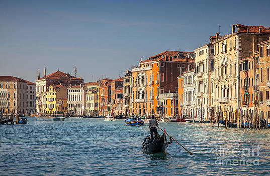 Gondola Cruise on the Grand Canal in Venice by Radu Razvan