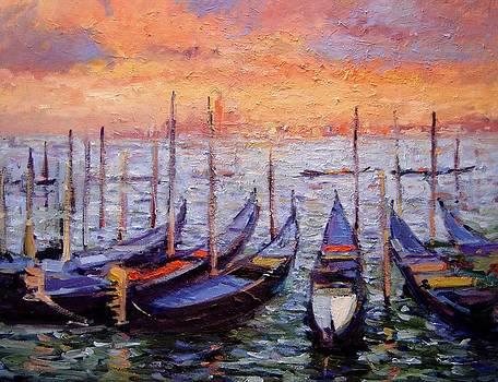 Gondolas 10 by R W Goetting