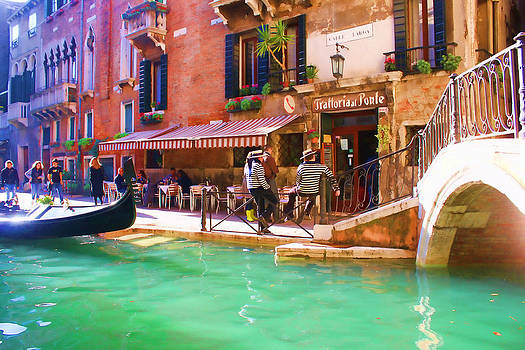 Gondoliers on Break by Christiane Kingsley