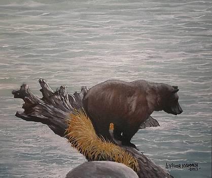 Gone Fishin- Kodiak Style by Leif Thor Kvammen