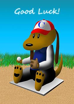 Jeanette K - Good Luck Baseball Dog