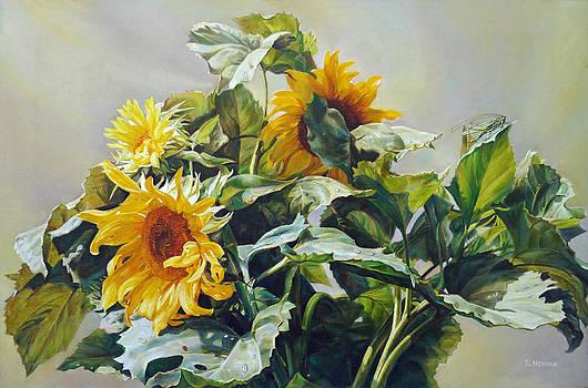 Good Morning - Sunflower in Love by Svitozar Nenyuk
