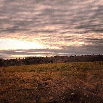 Good Morning! #sunrise #field #farm by Laura Vaillancourt