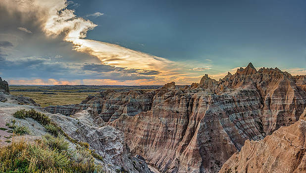 Good Sunset In The Badlands by Craig Pifer