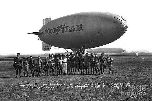 California Views Mr Pat Hathaway Archives - Good Year Blimp Volunteer Guarding the Graft Zeppelin Los Angeles Aug. 26 1929