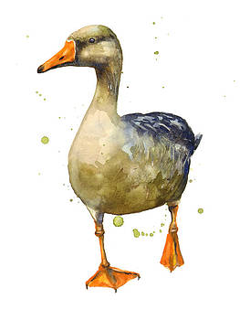 Goose Painting by Alison Fennell