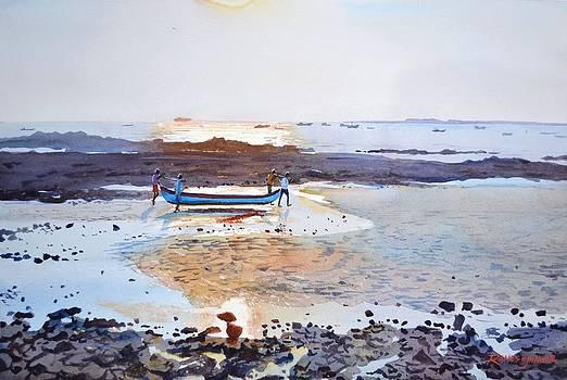 Gorai Beach by Ramesh Jhawar