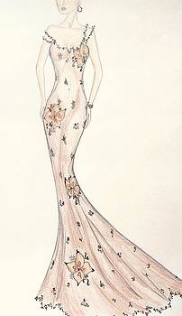 Gossamer Orchid Gown by Christine Corretti