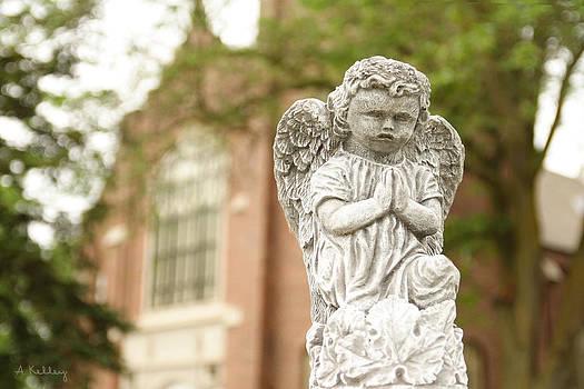 Gothic Church Angel - Anselmo Nebraska by Andrea Kelley