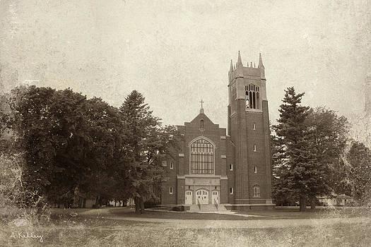 Gothic Church Anselmo Nebraska by Andrea Kelley