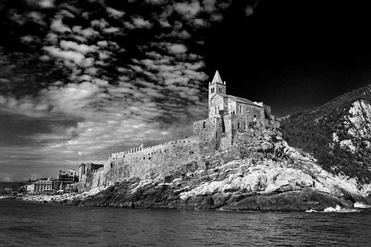 Gothic Church of St. Peter Porto Venere Italy by John Hix
