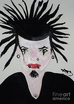 Gothic Spiked Hair with Facial Ornamentation by Marie Bulger