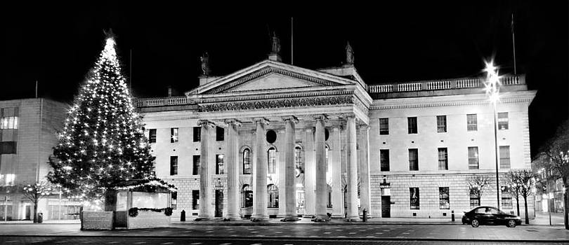 GPO O Connell Street - Dublin - Black and White by Barry O Carroll
