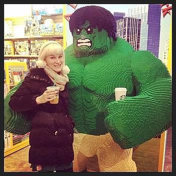 Grabbing A Coffee With Lego Hulk by Lacie Vasquez