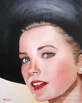Grace Kelly In A Black Hat by Venus