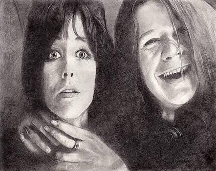 Grace Slick and Janis Joplin by Glenn Daniels