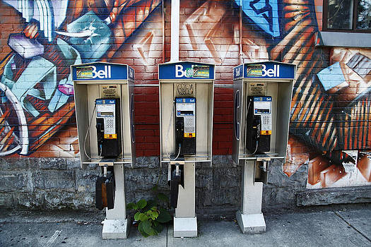 Graffiti And Pay Phones by Norman Pogson