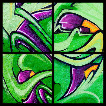 Art Block Collections - Graffiti in Green
