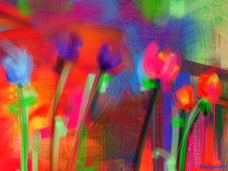 Graffiti Tulips by Maureen Kealy