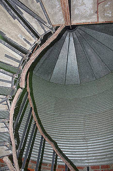 Grain Bin Spiral Stairwell - Sponge by Suzanne  McClain