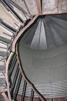 Grain Bin Spiral Stairwell by Suzanne  McClain