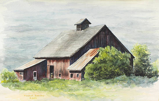 Gramp's barn 2 by Marshall Bannister