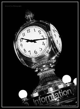 Grand Central Station Clock Black and White by Jessica Cirz