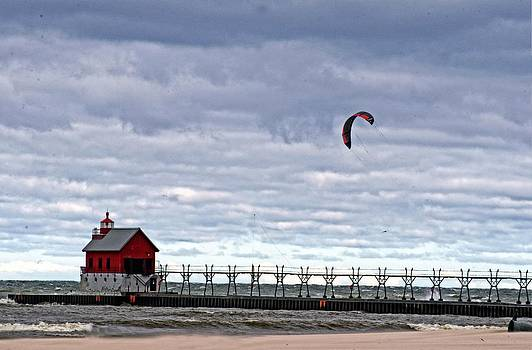 Grand Haven Lighthouse 2 by Cheryl Cencich